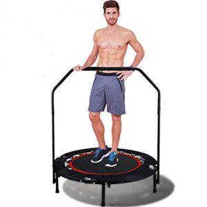40in - 101.5cm HOMCOM Foldable Mini Trampoline Aerobic Bouncer Rebounder Kids Indoor Outdoor Fitness Jumper